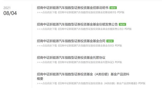 来源:招商基金官网